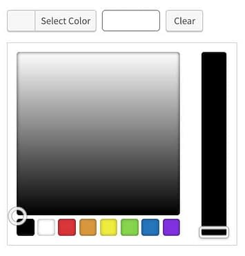 The Advanced Custom Fields color picker