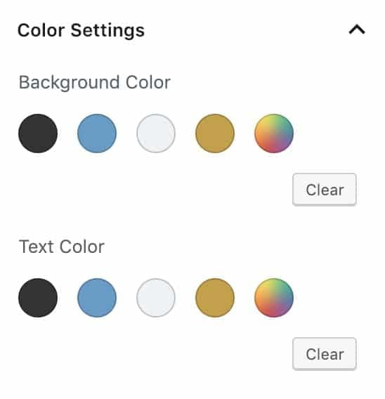 The Gutenberg color picker