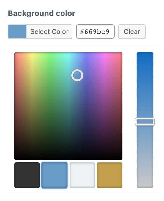The ACF color picker